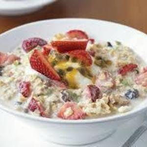 Homemade bircher muesli